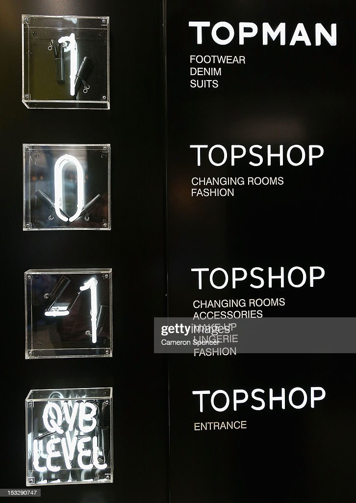 Detail of Topshop ahead of it's opening on October 3, 2012 in Sydney, Australia. Topshop and Topman open in Sydney after a successful launch of Topshop in Melbourne last year. The retailer will occupy four floors of the iconic Gowings Building on George and Market streets.