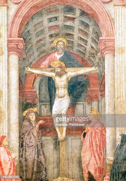 Detail of Trinity by Masaccio