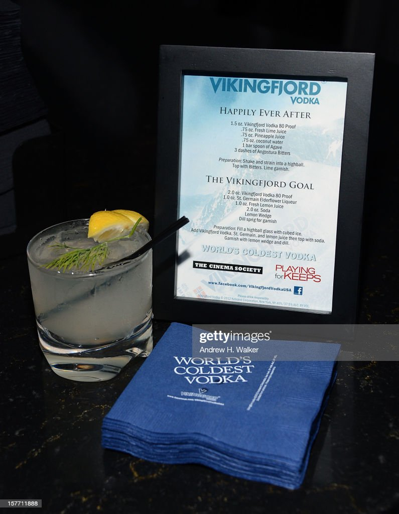 Detail of Vikingfjord Vodka at the Film District and Chrysler with The Cinema Society premiere of 'Playing For Keeps' after party at Dream Downtown on December 5, 2012 in New York City.