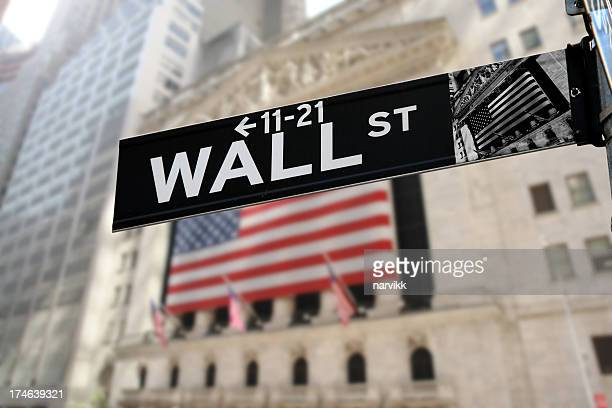 Detail of Wall Street Sign
