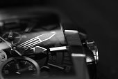 monochrome of wristwatch