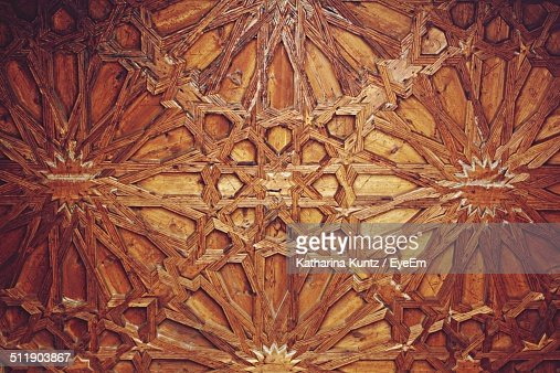 Detail of wooden carving