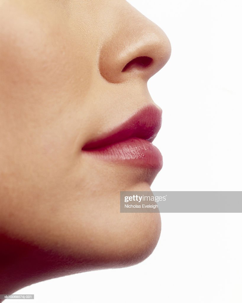Detail of young woman's face : Stockfoto