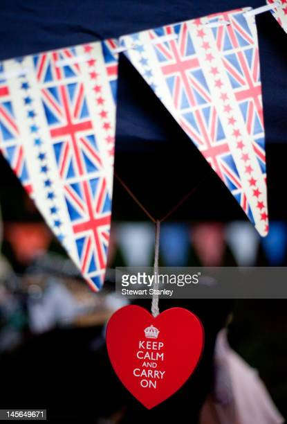 A detail on a stall at the Ightham medieval Coxcombe Fair to celebrate Queen Elizabeth II's Diamond Jubilee on June 03 2012 in Ightham England For...