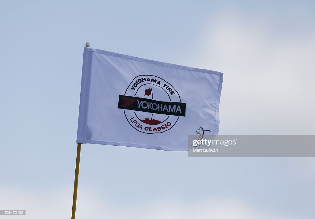 Detail photo of a flag on the 18th hole during the Yokohama Tire Classic on May 05, 2016 in Prattville, Alabama.