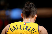 A detail photo of the haircut of Danilo Gallinari of the Denver Nuggets takes the court against the Phoenix Suns at Pepsi Center on November 20 2015...