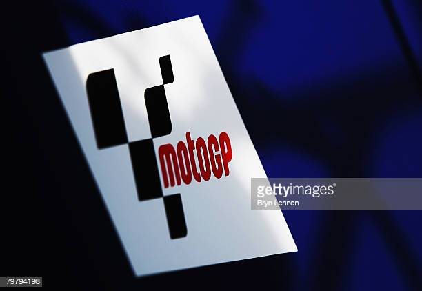 A detail photo of the MotoGP logo during MotoGP Testing at the Circuito de Jerez on February 16 2008 in Jerez Spain