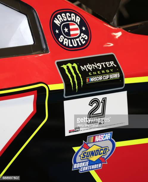 Detail photos of the car of Erik Jones driver of the 5Hour ENERGY Extra Strength Toyota during practice for the Monster Energy NASCAR Series CocaCola...