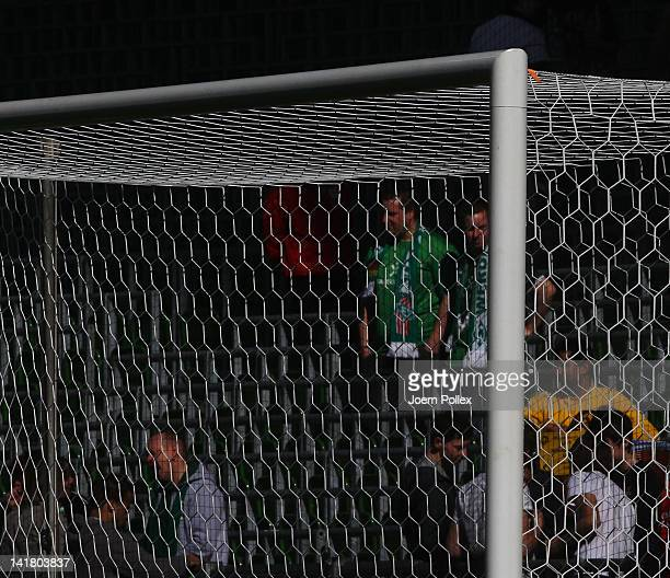 Detail shot of a goal prior to the Bundesliga match between SV Werder Bremen and FC Augsburg at Weser Stadium on March 24 2012 in Bremen Germany