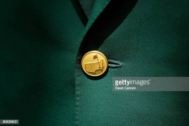 A detail shot of a member's green jacket button during the second round of the 2008 Masters Tournament at Augusta National Golf Club on April 11 2008...