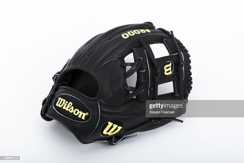 A detail shot of a Wilson A2000 glove, the Official Glove of Major League Baseball, photographed on December 19, 2012 in New York City.