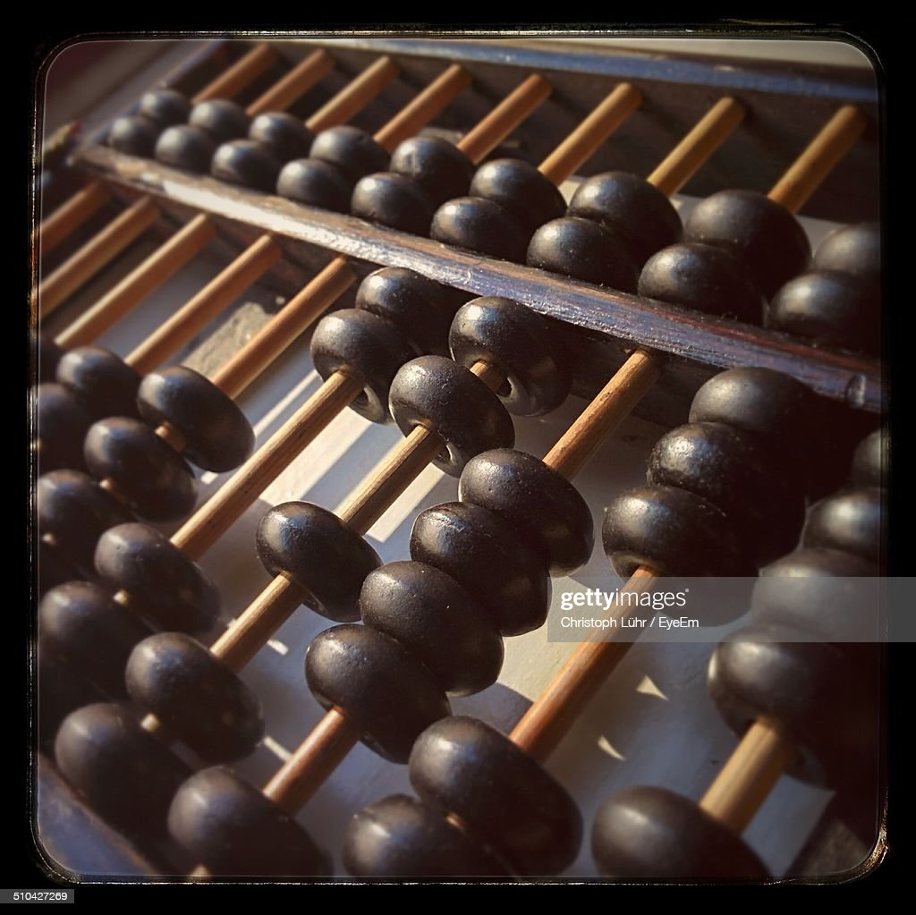 Detail shot of Abacus