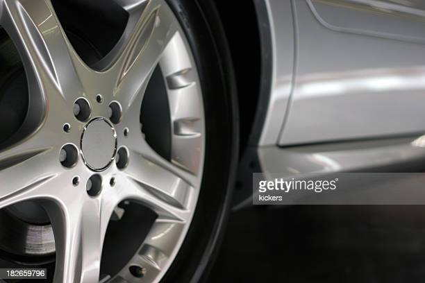Detail shot of alloy wheel