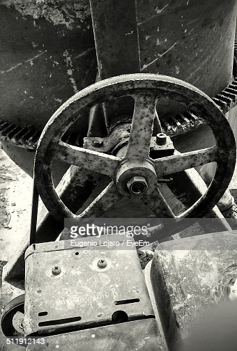 detail shot of cement mixer stock photo getty images. Black Bedroom Furniture Sets. Home Design Ideas