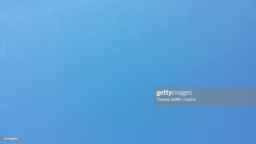 Detail Shot Of Clear Blue Sky : Stock Photo