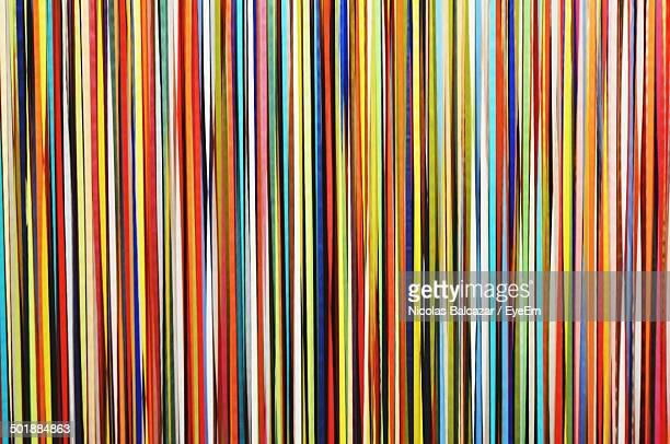 Detail shot of colorful lines