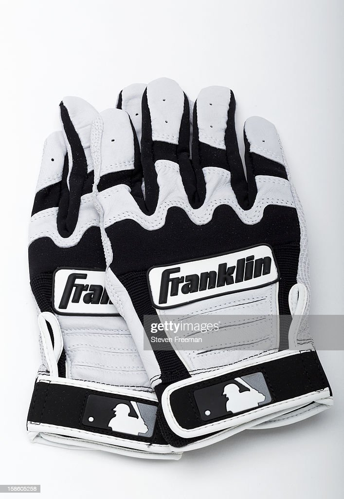 A detail shot of Franklin batting gloves, the Official Batting Glove of Major League Baseball photographed on December 19, 2012 in New York City.
