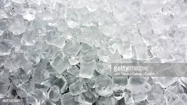 Detail Shot Of Ice Cubes