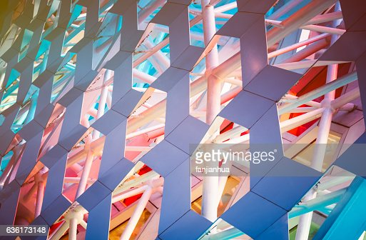 Detail shot of patterned wall : Stock Photo