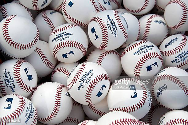 A detail shot of the baseballs prior to Game 6 of the 2016 World Series between the Chicago Cubs and the Cleveland Indians at Progressive Field on...