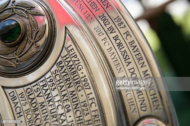 Detail shot of the Bundesliga trophy photographed during the team presentation of FC Bayern Muenchen at Allianz Arena on August 8 2017 in Munich...