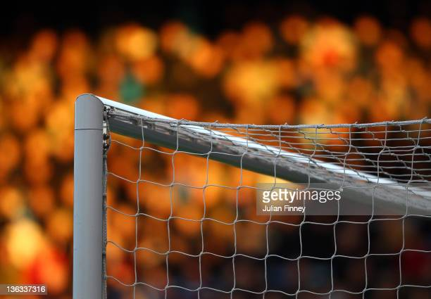 A detail shot of the goal post and net during the npower Championship match between West Ham United and Coventry City at Boleyn Ground on January 2...
