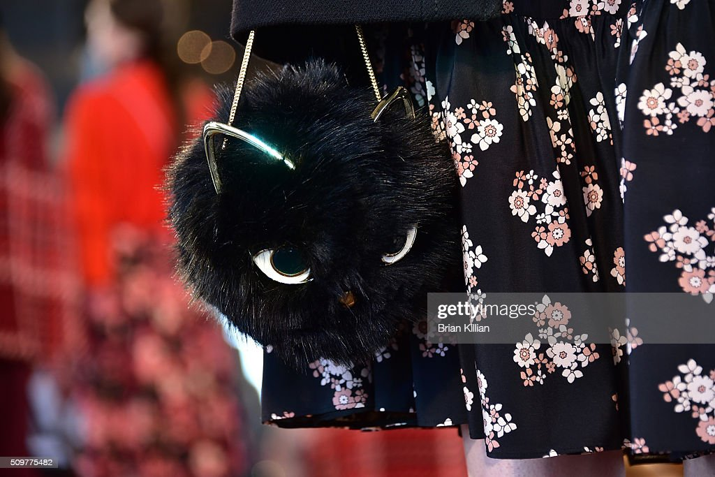 Detail shot of the Kate Spade New York - Presentation - Fall 2016 show during New York Fashion Week at The Rainbow Room on February 12, 2016 in New York City.