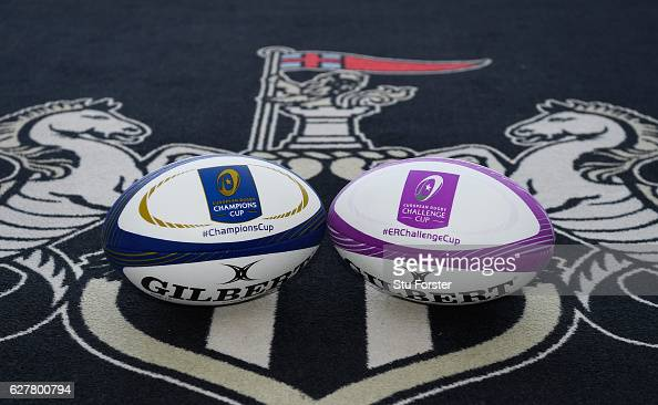 A detail shot of the match balls at the announcement of the launch of Newcastle's bid to host the 2018 European Rugby Cup Finals in 2018 at St James'...
