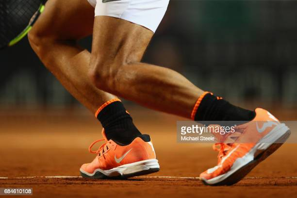 Detail shot of the shoes of Rafael Nadal of Spain during the men's third round match against Jack Sock of USA on Day Five of the Internazionali BNL...