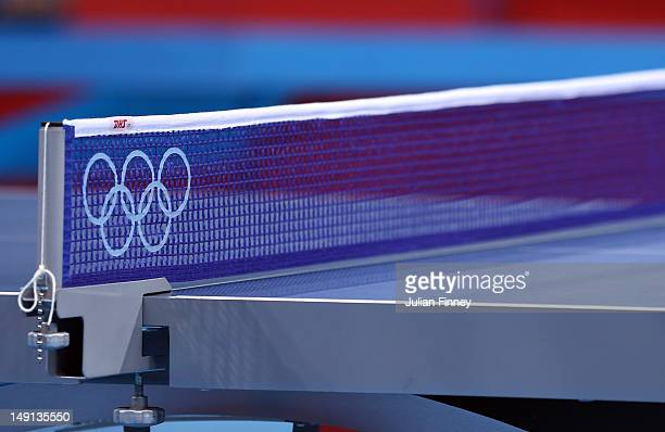 A Detail Shot Of The Table Tennis In ExCeL Arena During Previews Ahead