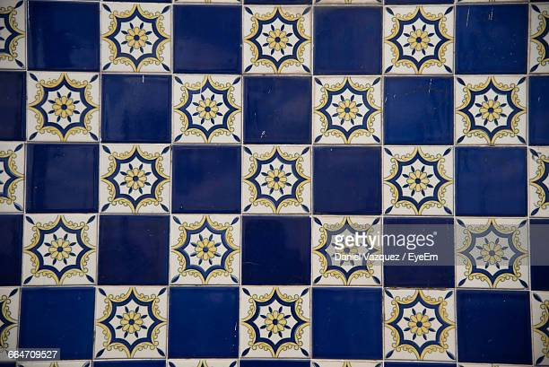 Detail Shot Of Tiled Wall