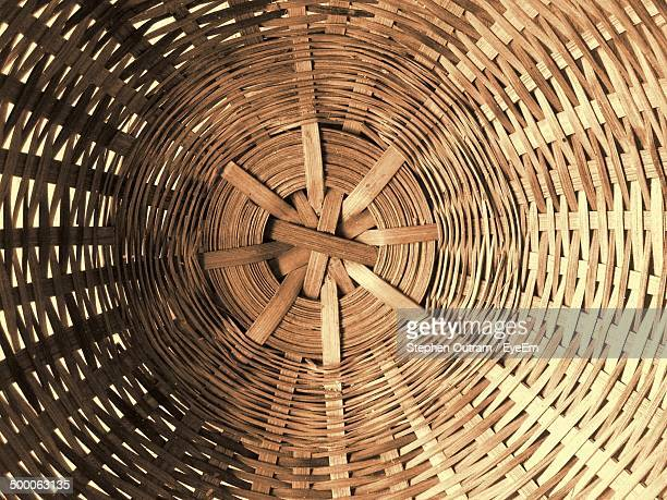 Detail shot of wicker basket as background