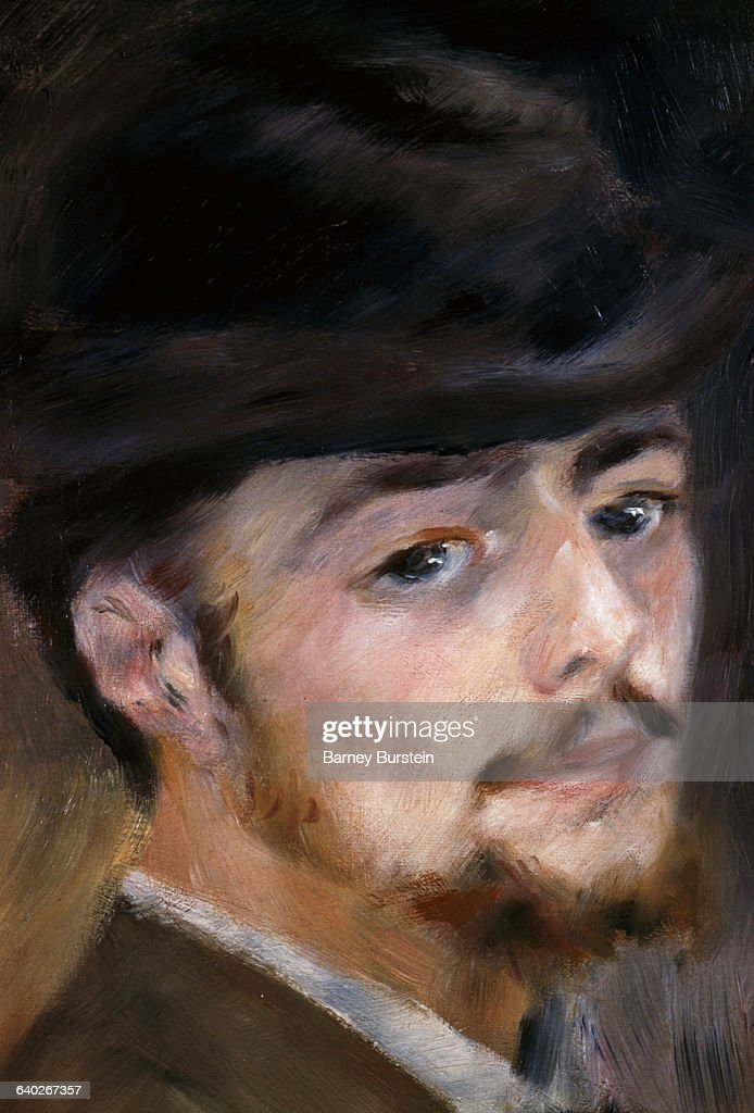 Detail Showing Face from Self-Portrait at 35 by Pierre <a gi-track='captionPersonalityLinkClicked' href=/galleries/search?phrase=Auguste+Renoir&family=editorial&specificpeople=117768 ng-click='$event.stopPropagation()'>Auguste Renoir</a>