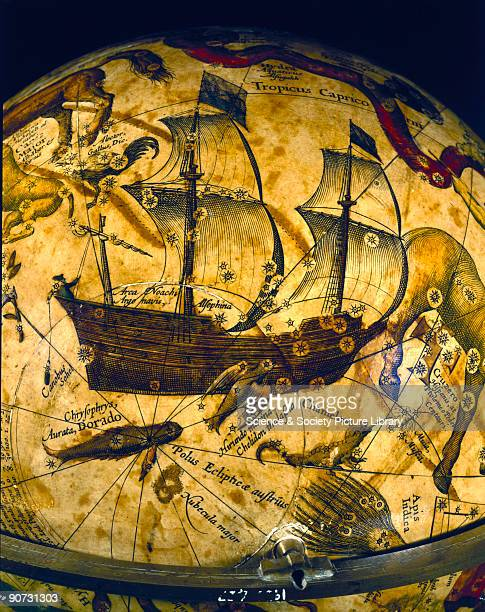 Detail showing the constellation of Argo This celestial globe was made by Petrus Plancius in Amsterdam Holland The Dutch were the first to make...