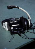 Detail view a coach's headset prior to the NFL Pro Bowl on February 13 2005 at Aloha Stadium in Honolulu Hawaii The AFC team defeated the NFC team...