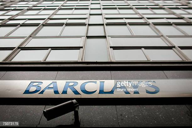 A detail view of a branch of Barclays bank on February 20 2007 in London Barclays have today announced record profits up 35% on last year