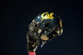 A detail view of a Cal helmet during a game between the UCLA Bruins and the California Golden Bears at Memorial Stadium on October 6 2012 in Berkeley...