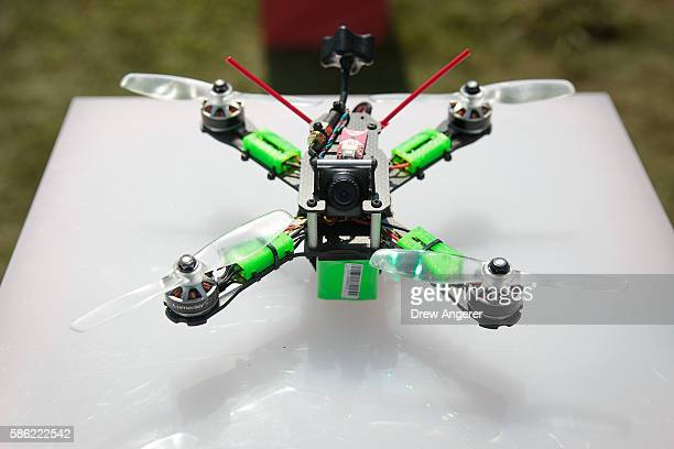 A detail view of a drone during practice day at the National Drone Racing Championships on Governors Island August 5 2016 in New York City More than...