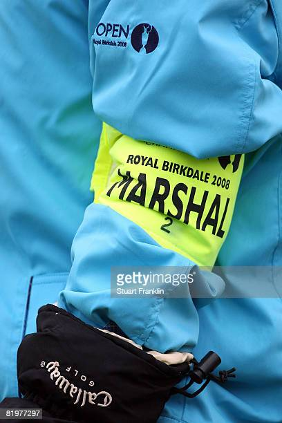 A detail view of a marshal during the second round of the 137th Open Championship on July 18 2008 at Royal Birkdale Golf Club Southport England