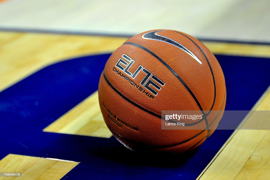 A detail view of a Nike basketball during a game between the Davidson Wildcats and the Duke Blue Devils at Time Warner Cable Arena on January 2, 2013 in Charlotte, North Carolina. Duke defeated Davidson 67-50.
