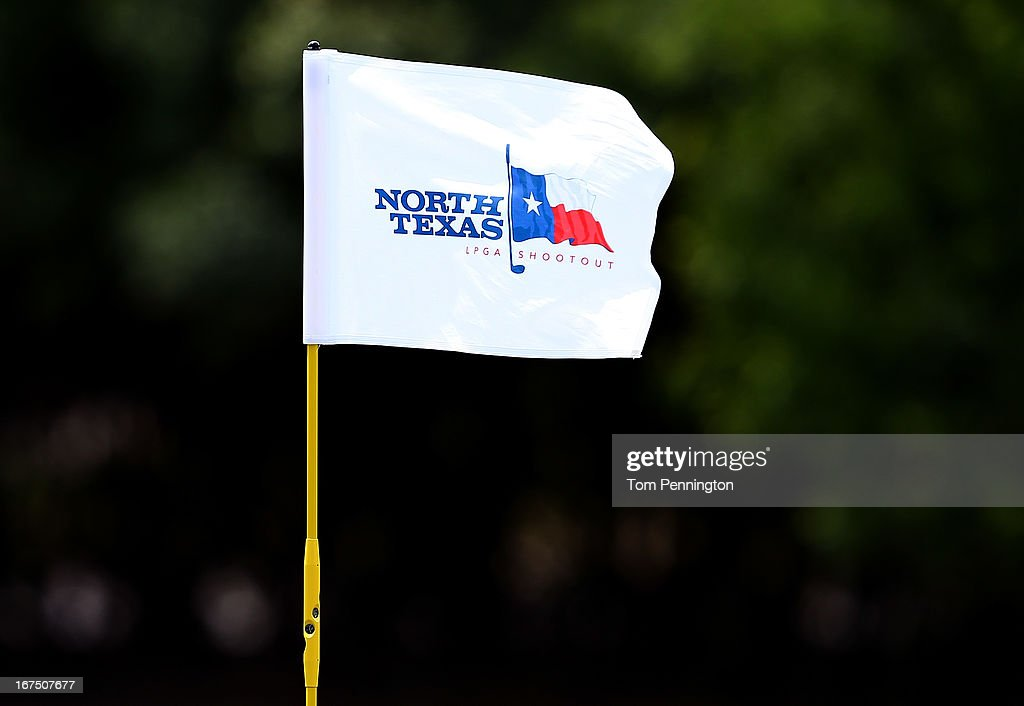 A detail view of a pin flag during the first round of the 2013 North Texas LGPA Shootout at the Las Colinas Country Club on April 25, 2013 in Irving, Texas.