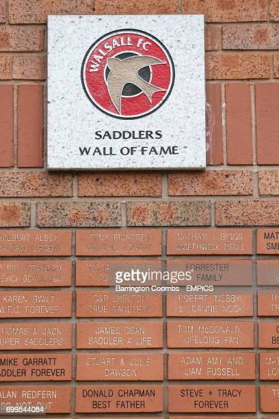 A detail view of a Walsall Wall of Fame