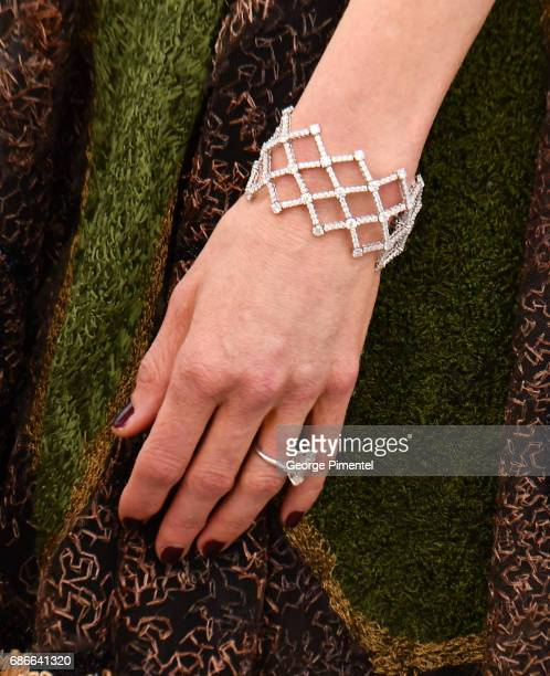 A detail view of Nicole Kidman ring and bracelet at the 'The Killing Of A Sacred Deer' photocall during the 70th annual Cannes Film Festival at...