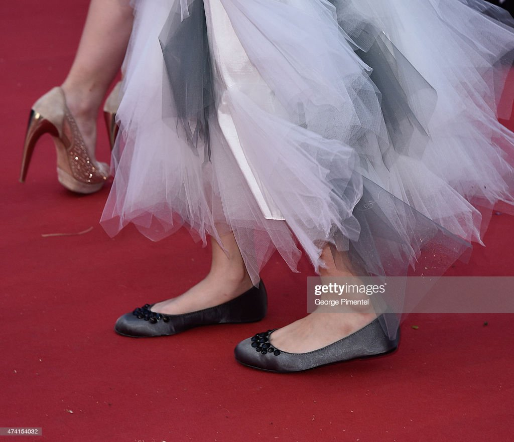 A detail view of shoes on the red carpet at the 'Youth' Premiere during the 68th annual Cannes Film Festival on May 20 2015 in Cannes France