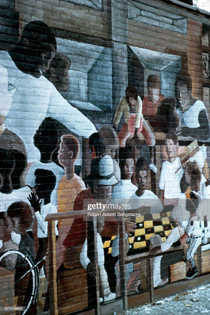 Robert abbott sengstacke photos getty images for Mural in chicago illinois