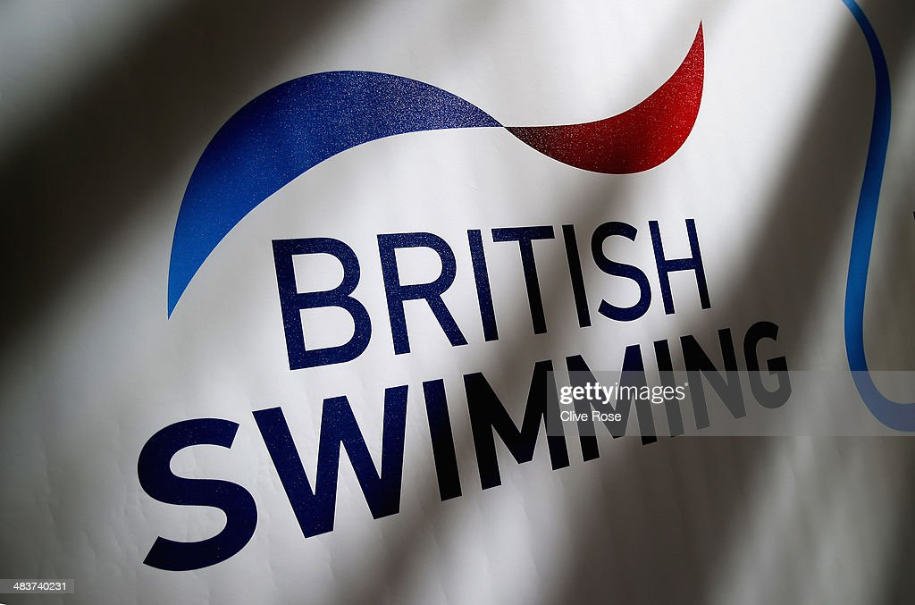 A detail view of the British Swimming logo from day one of the British Gas Swimming Championships 2014 at Tollcross International Swimming Centre on April 10, 2014 in Glasgow, Scotland.