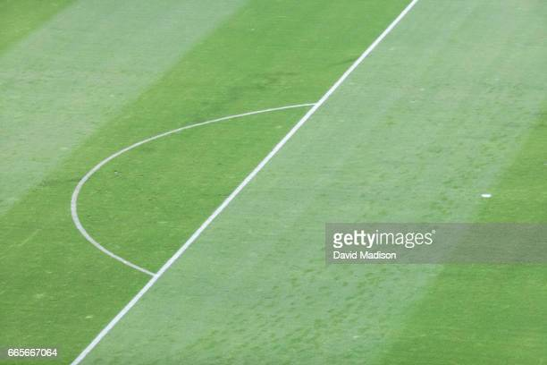 A detail view of the field at Avaya Stadium during a FIFA 2018 World Cup Qualifier match between the United States and Honduras played on March 24...