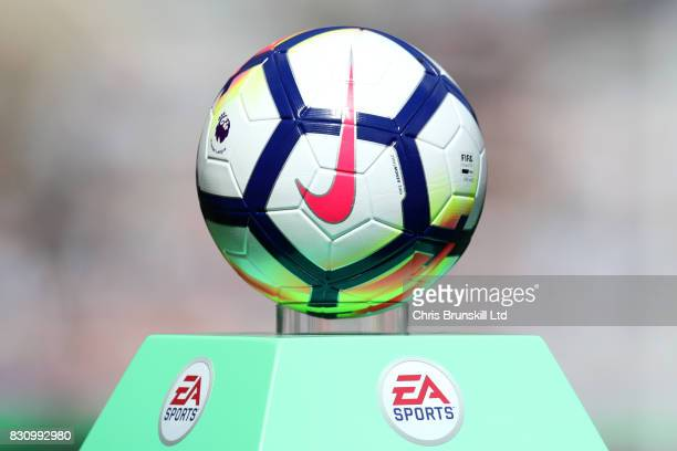 Detail View of the Nike match ball prior to the Premier League match between Newcastle United and Tottenham Hotspur at St James' Park on August 13...