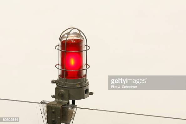 Detail view of the red goal light lit after Radek Dvorak of the Florida Panthers scores a goal against the Atlanta Thrashers at the Bank Atlantic...