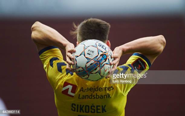 Detail view of the Select Sport match ball of Gregor Sikosek of Brondby IF during the Danish Alka Superliga match between FC Copenhagen and Brondby...